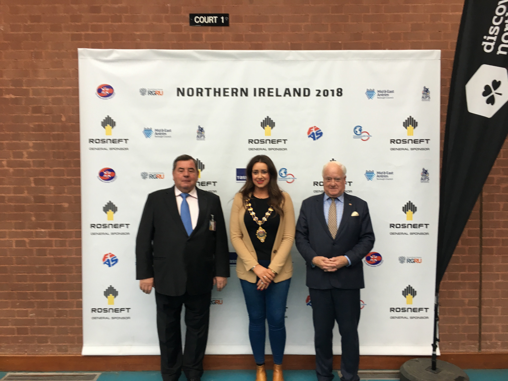 FIAS President Vasily Shestakov was impressed with the quality of athletes from Great Britain at the Sambo President's Cup in Ballymena today ©ITG