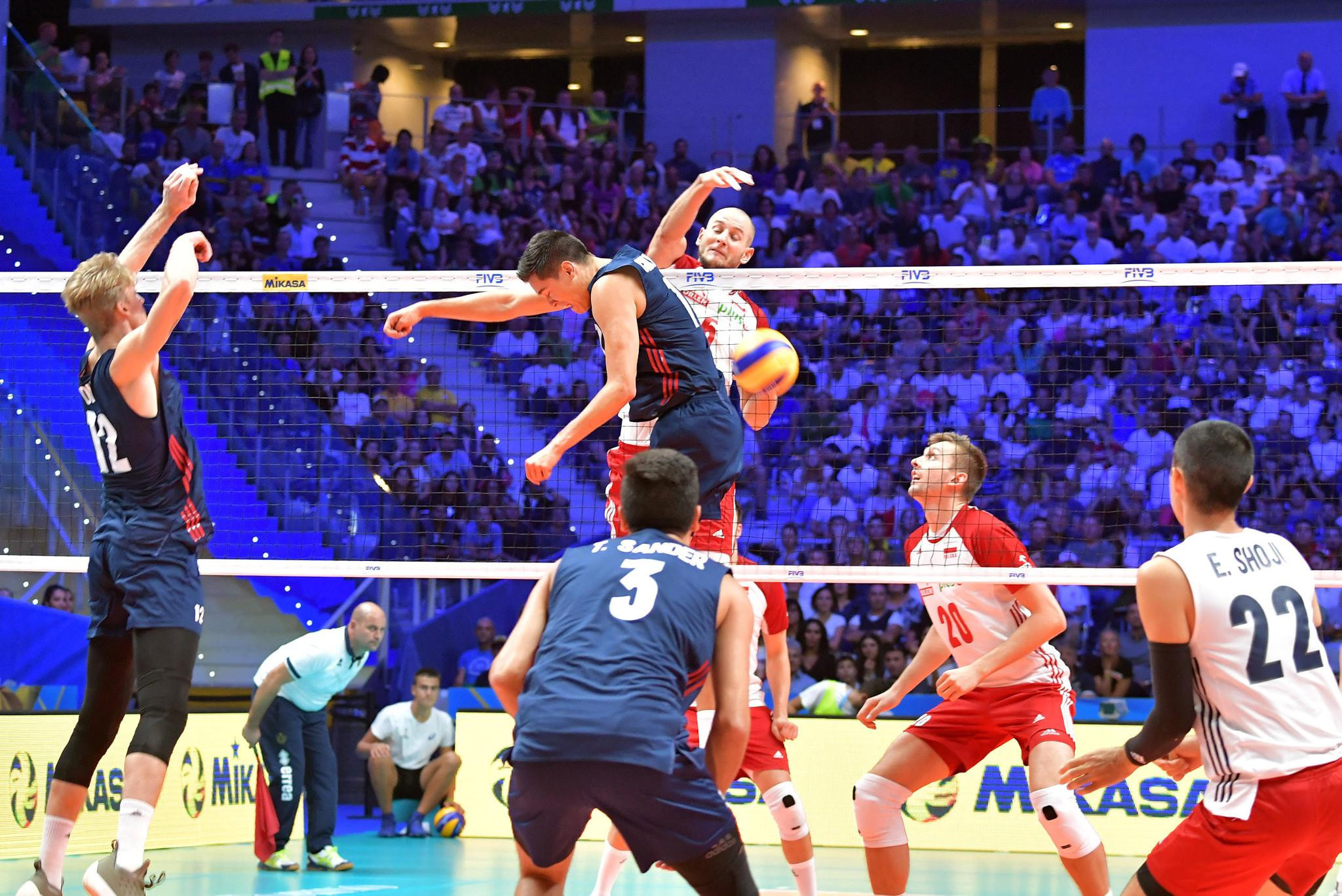 Poland beat the United States in the semi-final of the FIVB Men's Volleyball World Championships in Turin, Italy ©FIVB