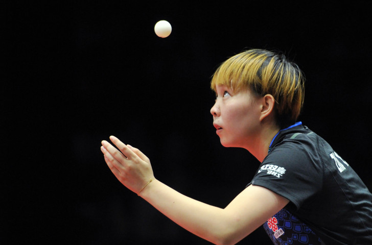 China's Zhu Yuling, defending champion in the ITTF Women's World Cup at Chengdu, had no answer in the final to the power and skill of her compatriot Ding Ning, the Olympic and world champion ©ITTF