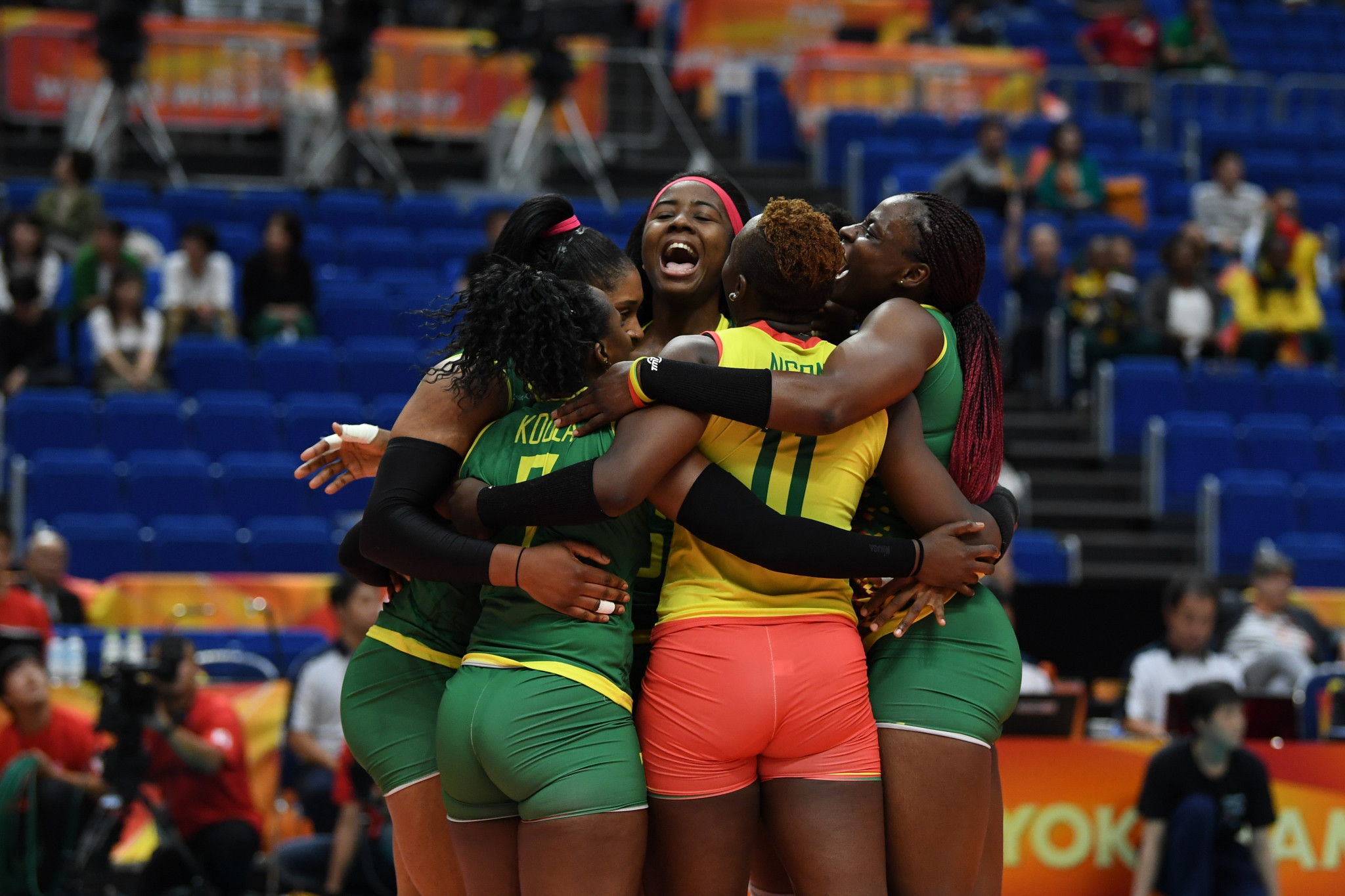 Cameroon won their first ever game at the Women's Volleyball World Championships in Japan, with the FIVB President showing this as an example of volleyball's growth around the world ©Getty Images