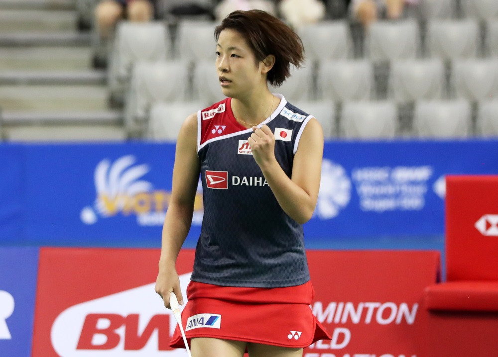 Nozomi Okuhara prevailed over Beiwen Zhang in three games to win the women's singles ©BWF
