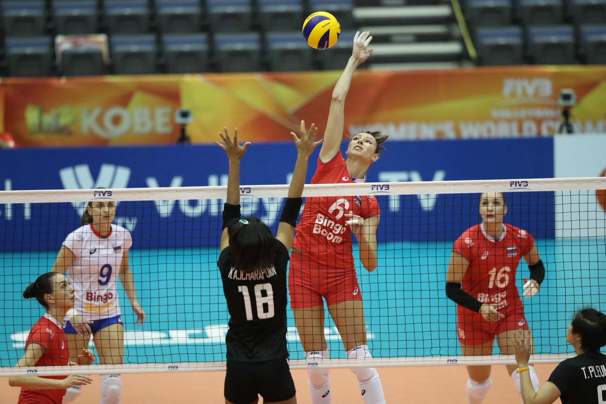 Russia came from behind to beat Thailand 3-2 at the FIVB Women's Volleyball World Championships ©Getty Images