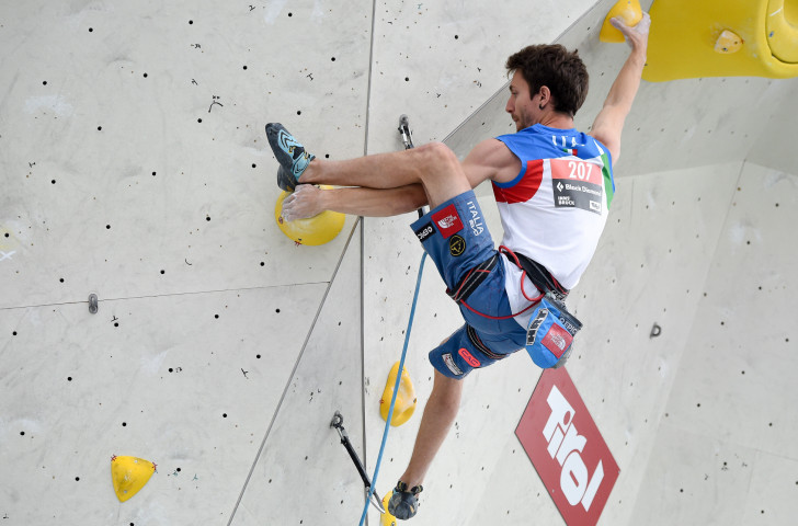 Italy's Stefano Ghisolfi won the IFSC Lead World Cup event in Kranj tonight ©IFSC