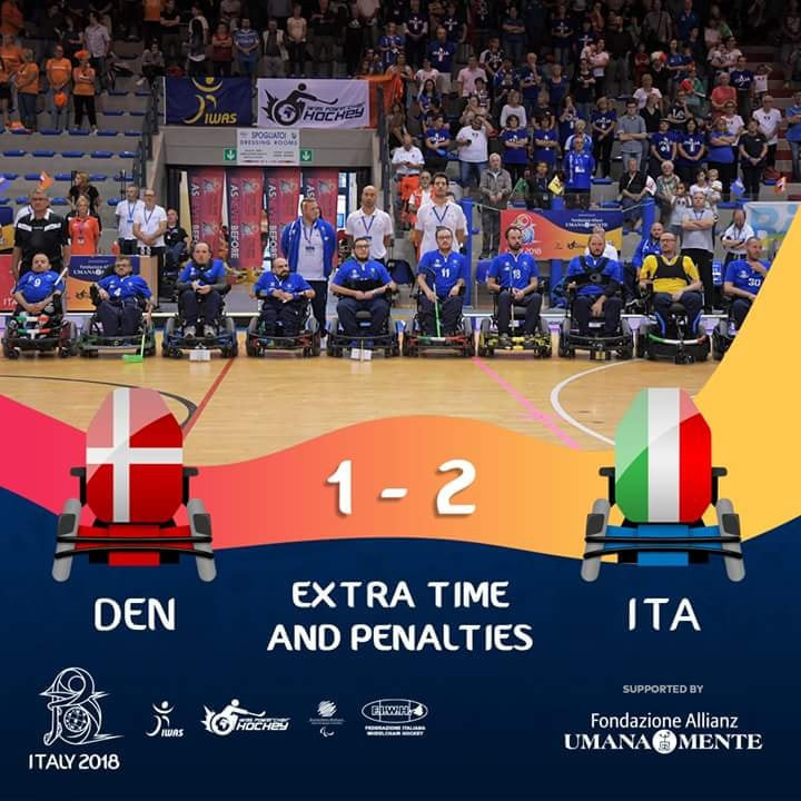 Italy win IWAS Powerchair Hockey World Championships after shoot-out with Denmark