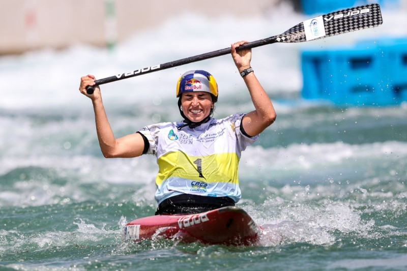Fox wins gold again at ICF Canoe Slalom World Championships to become greatest female paddler in history