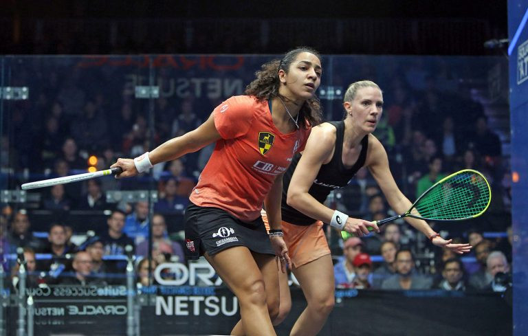 Egypt's Raneem El Welily secured her place in the women's final after defeating fourth seed, Laura Massaro ©Oracle Netsuite Open