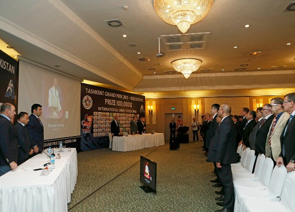 A draw took place in Tashkent today ahead of competition beginning tomorrow ©IJF
