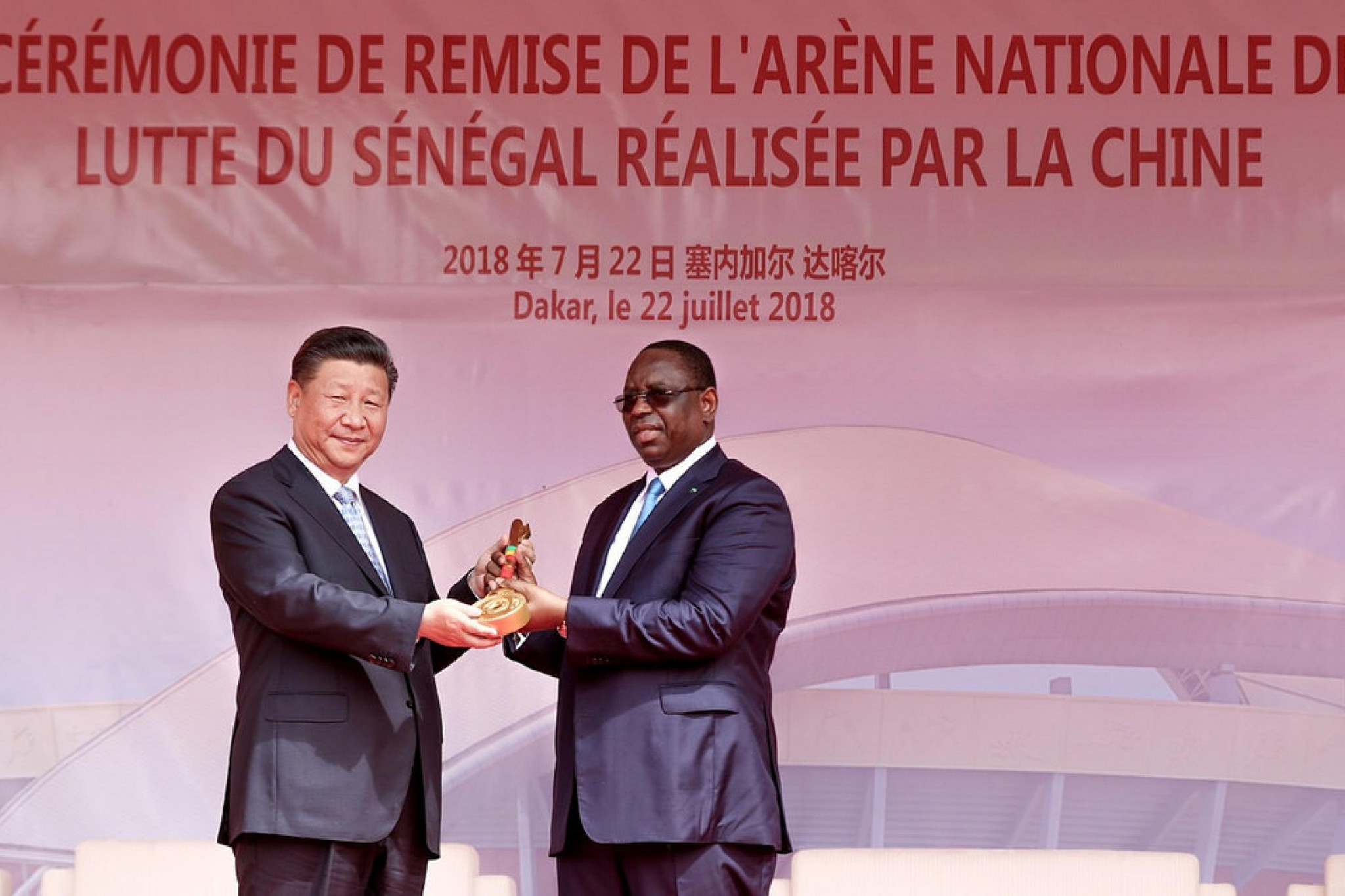 China's President Xi Jinping attended the grand opening of the Wrestling Arena of Senegal ©UWW