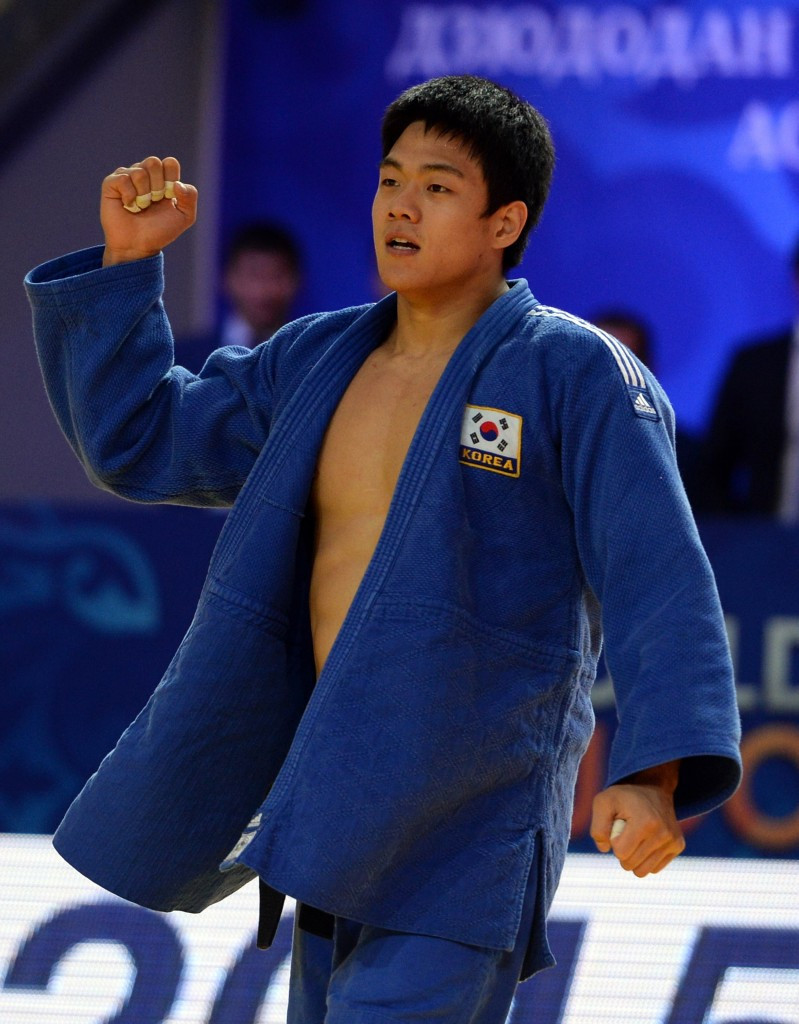 Gwak Dong Han will be among world champions present in the Uzbek capital ©AFP/Getty Images