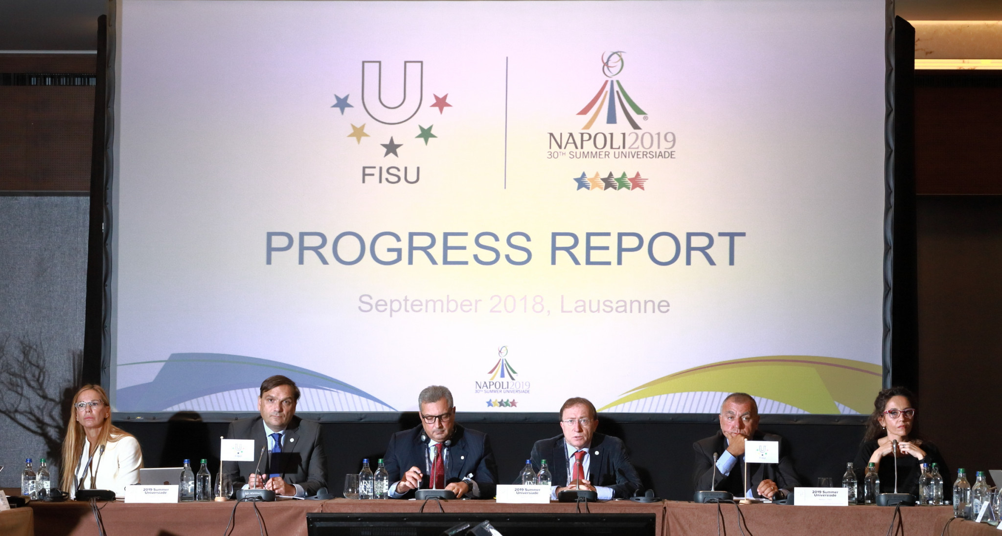 Naples 2019 Organising Committee deliver progress report to FISU