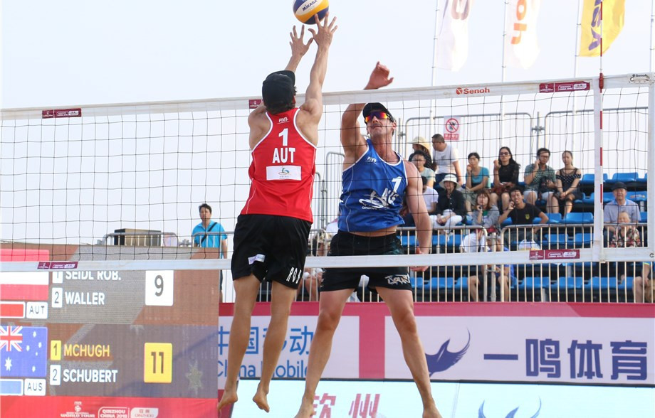 Austria's Robin Seidl and Philipp Waller won both of their matches in the men's event today ©FIVB