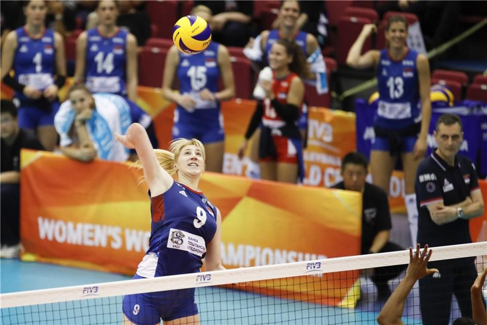Serbia were one of the first teams to qualify for the second round of the FIVB Women's Volleyball World Championships in Japan, alongside The Netherlands ©FIVB