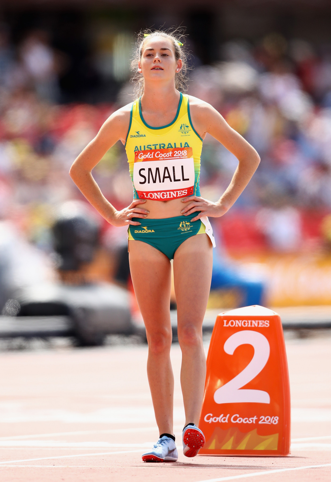 Keely Small represented Australia in the 800 meres at this year's Commonwealth Games in the Gold Coast ©Getty Images