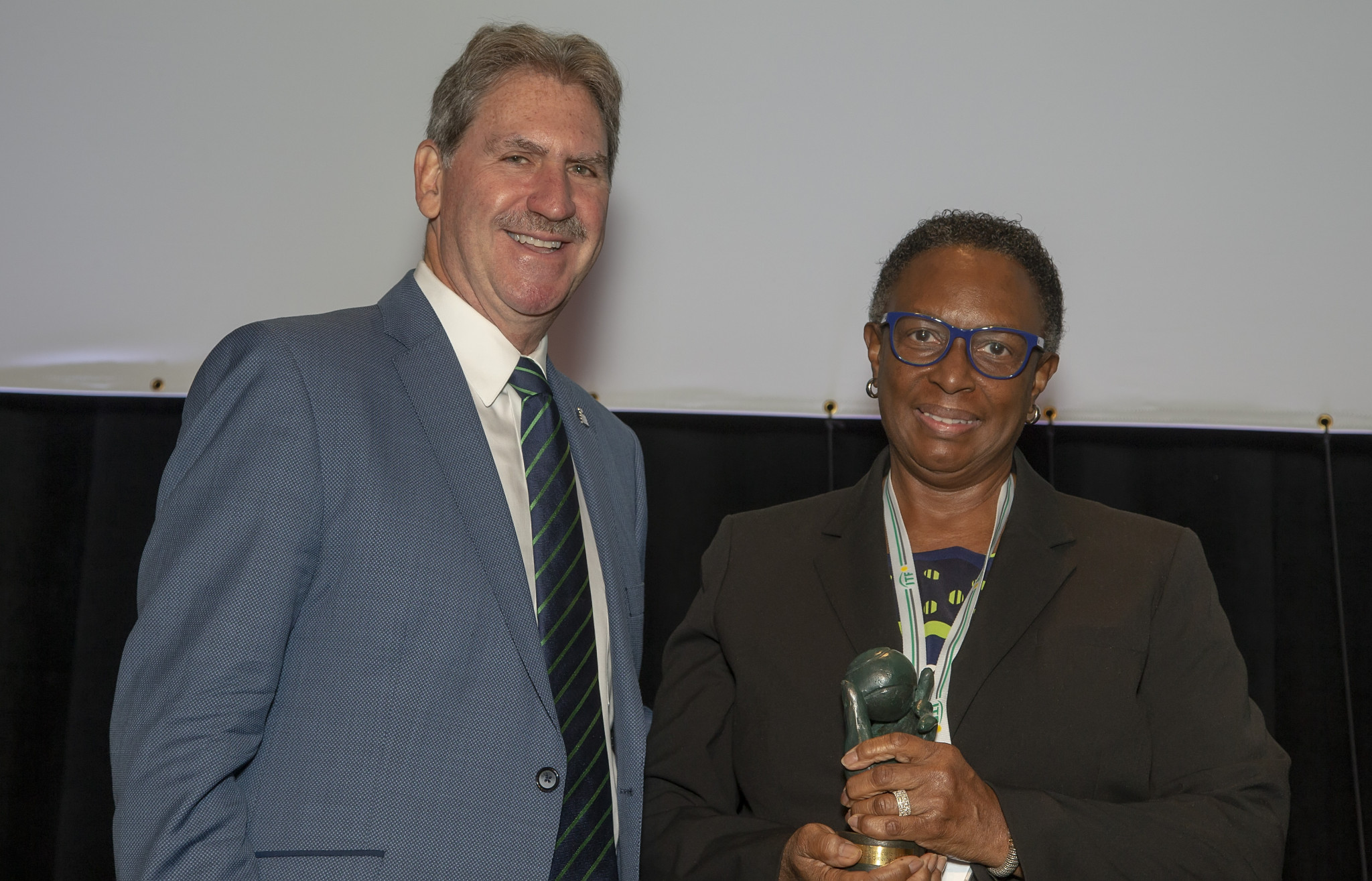 Sandra Osborne was recognised for holding several important roles in tennis ©BOA