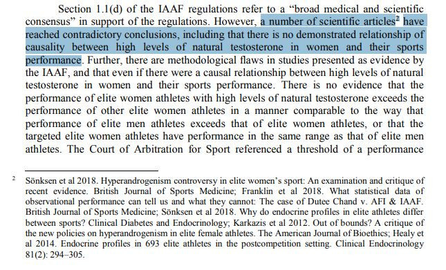 The letter also calls into question the validity of the evidence on which the IAAF have based their argument ©UN