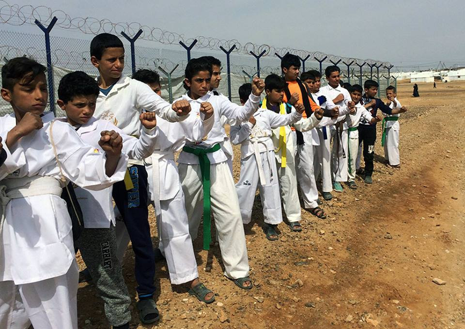 Taekwondo Humanitarian Foundation encouraged by growth at Azraq Refugee Camp