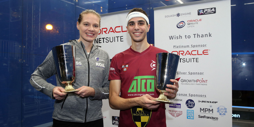 Both top seeds toppled in PSA Netsuite Open finals