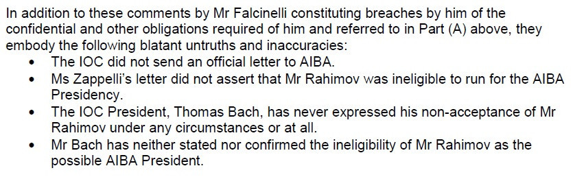 Terry Smith made the claims in a letter sent to fellow members of AIBA's Executive Committee ©ITG
