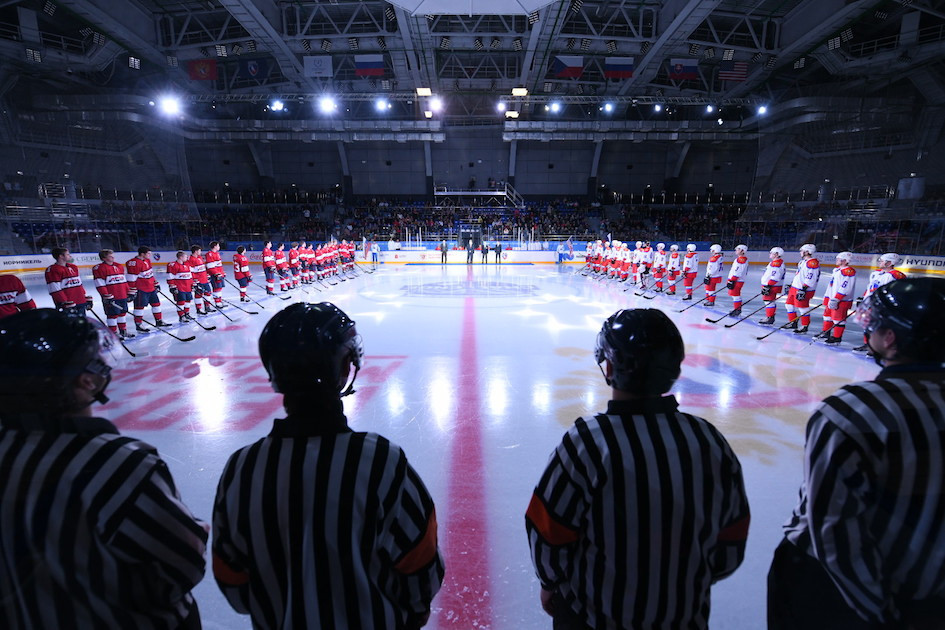 Krasnoyarsk 2019 ice hockey venues host test event