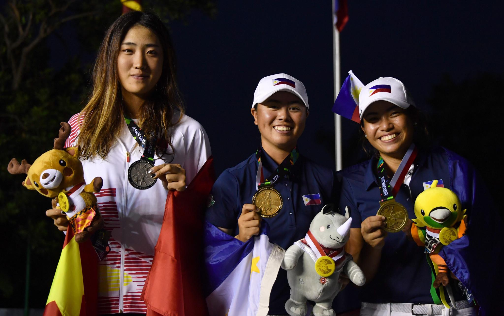 Yuka Saso won two gold medals in golf at Jakarta Palembang 2018 ©Getty Images