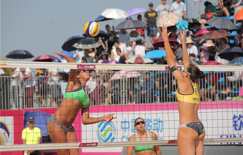 Brazil and USA win gold at FIVB Beach Qinzhou Open