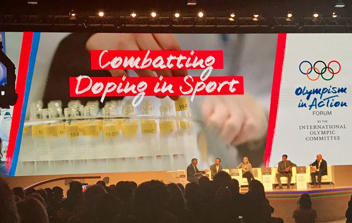 A combatting doping in sport panel was held at the Olympism in Action Forum ©Twitter