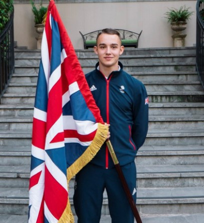 Ross Cullen has been chosen as Britain's flagbearer for the Opening Ceremony of the Summer Youth Olympic Games in Buenos Aires ©Team GB