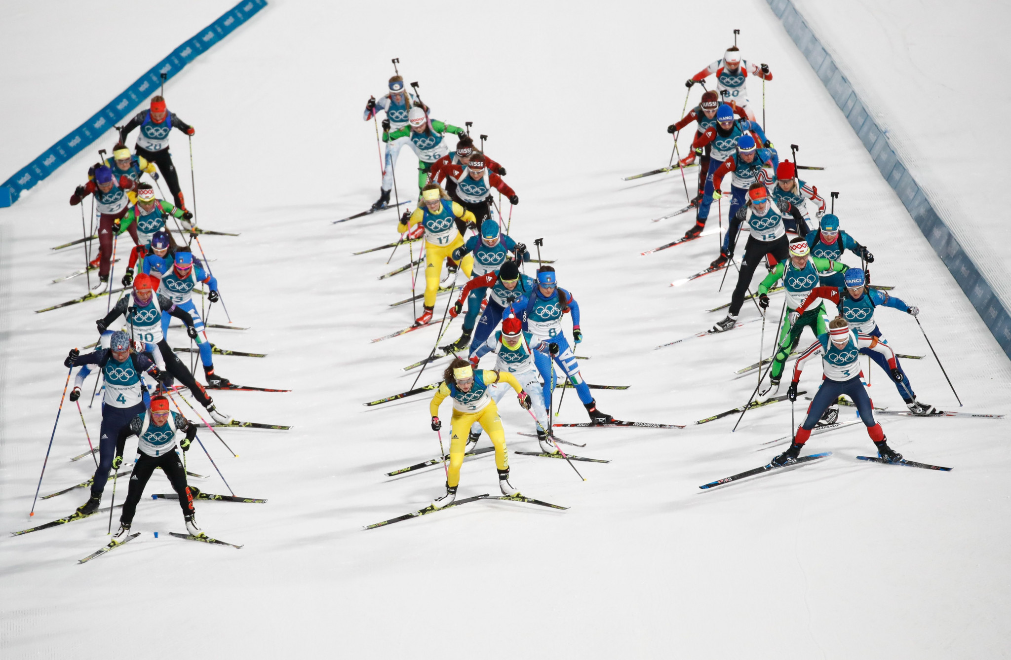 The International Biathlon Union have confirmed they will introduce a mass start event with 60 competitors from next season ©Getty Images