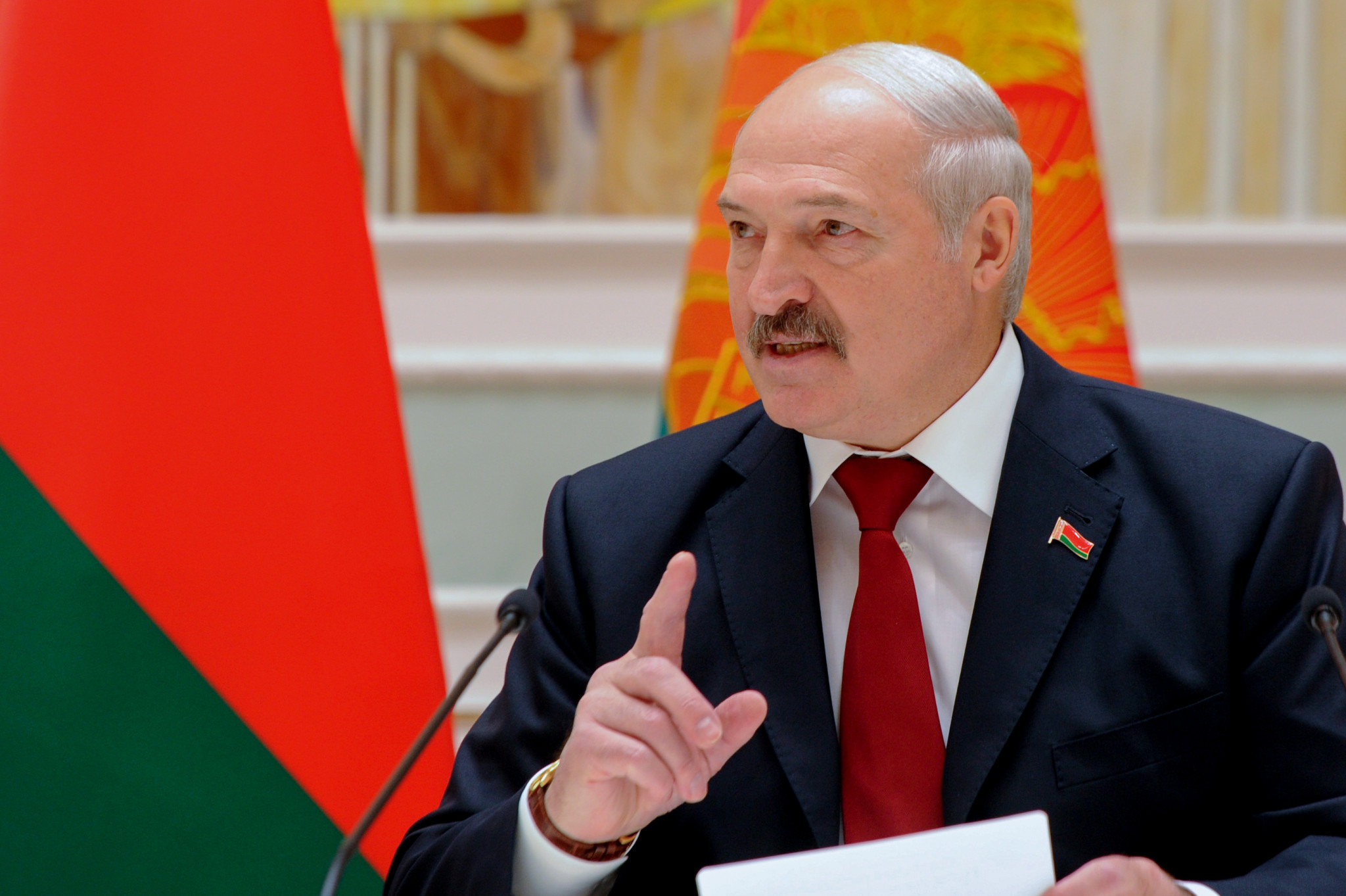 The invitation came from Belarus President Alexander Lukashenko who has welcomed several foreign leaders to the host city ©Getty Images
