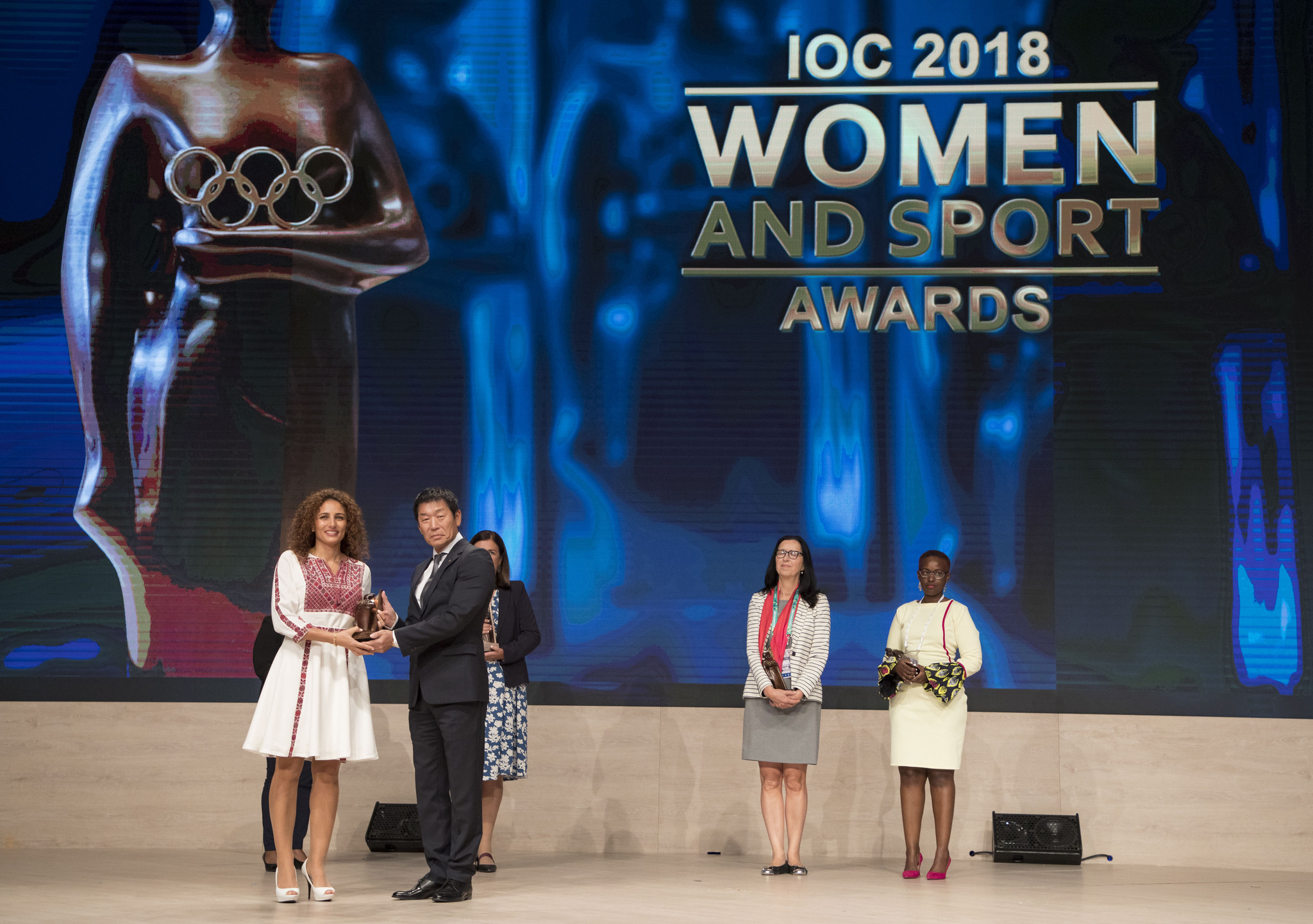The Jordan Olympic Committee's Samar Nassar was among the winners of Women and Sport awards ©IOC