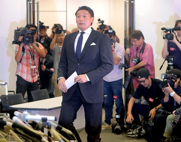 Former Japanese grand champion Takanohana has been at the centre of a scandal involving sumo and was forced to resign after one of his wrestlers was brutally beaten in a drunken brawl with another fighter ©Getty Images