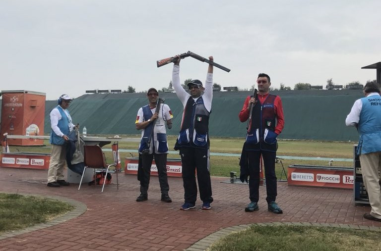 Francesco Nespeca won gold on home soil in the PT3 Trap Mixed Standing SG-U event ©Shooting Para Sport
