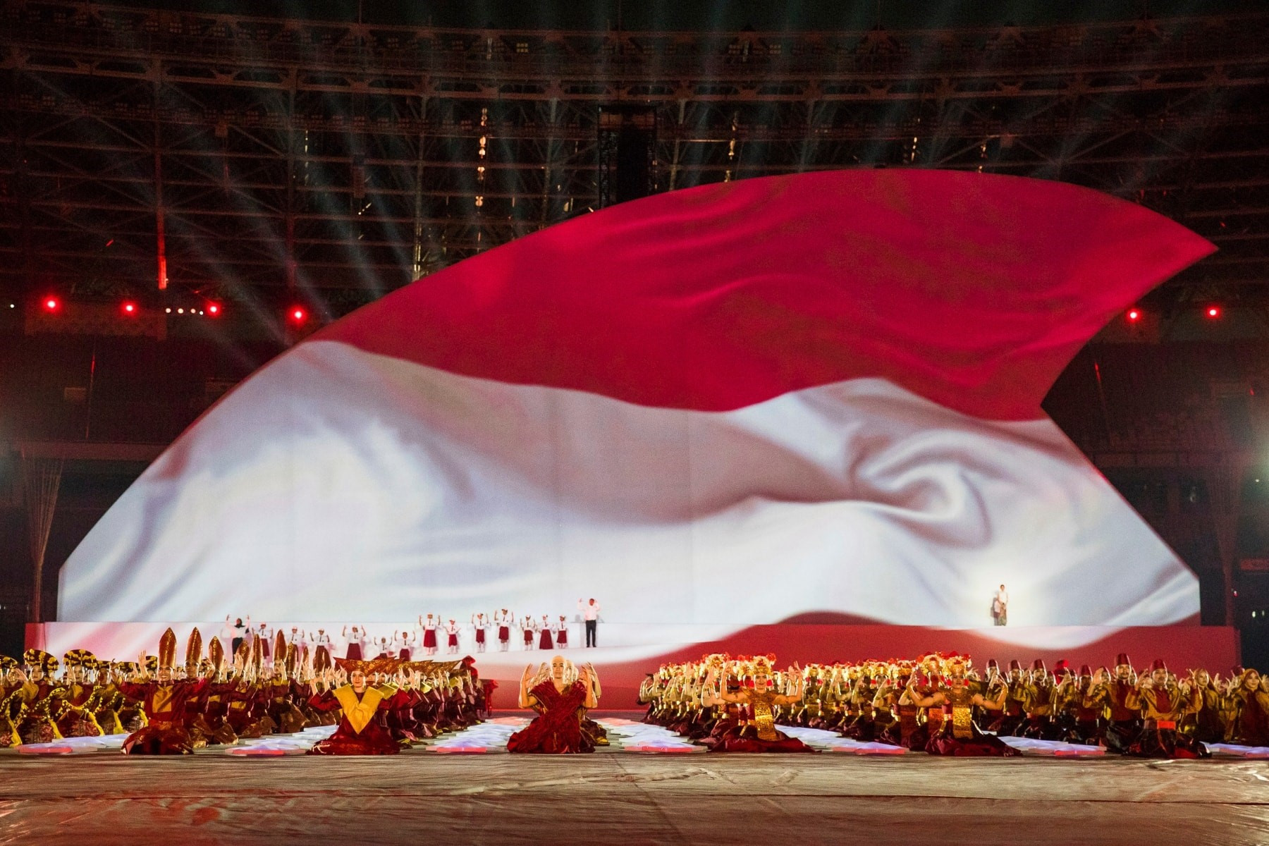 Jakarta hosted the Opening Ceremony at the Gelora Bung Karno Main Stadium ©Balich