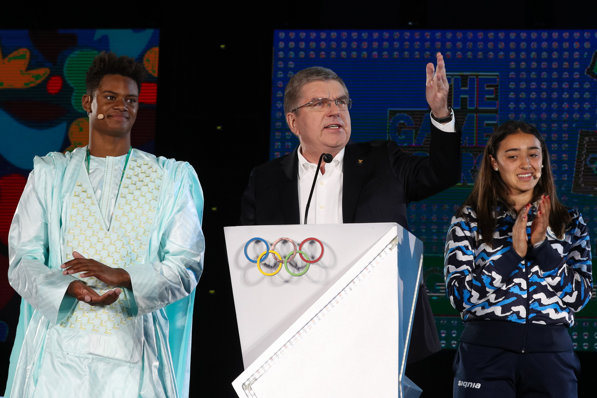 IOC President Thomas Bach thanked Argentina and Buenos Aires during his speech at the ceremony ©Getty Images