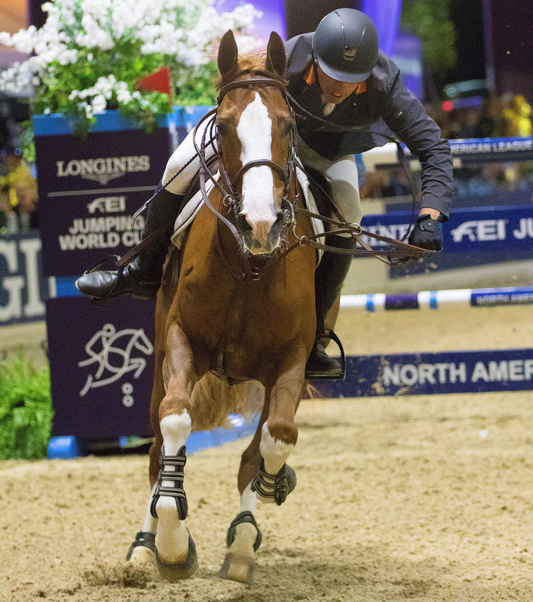 Wilhelm Genn and his ride Bugatti took their first World Cup win in Sacramento ©FEI