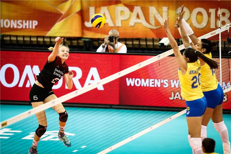 Germany and Brazil in five-set thriller at FIVB Women's World Volleyball Championships