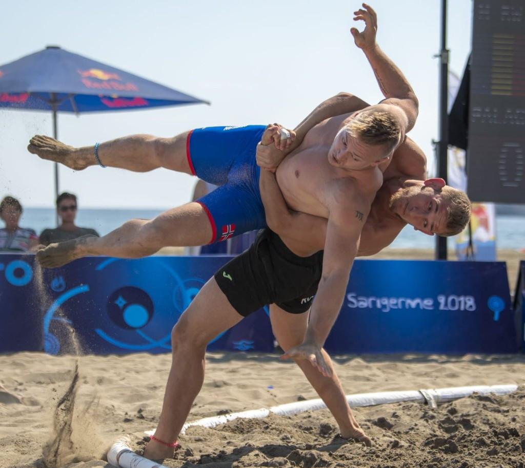 The final day of the UWW Beach World Championships saw eight wrestlers win gold, four of which went to Romania ©UWW