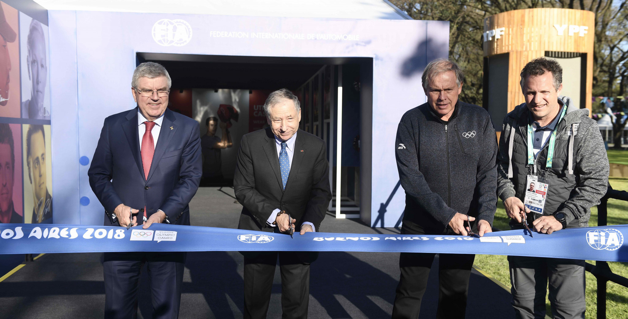 FIA Road Safety Exhibition opened by Todt and Bach at Buenos Aires 2018
