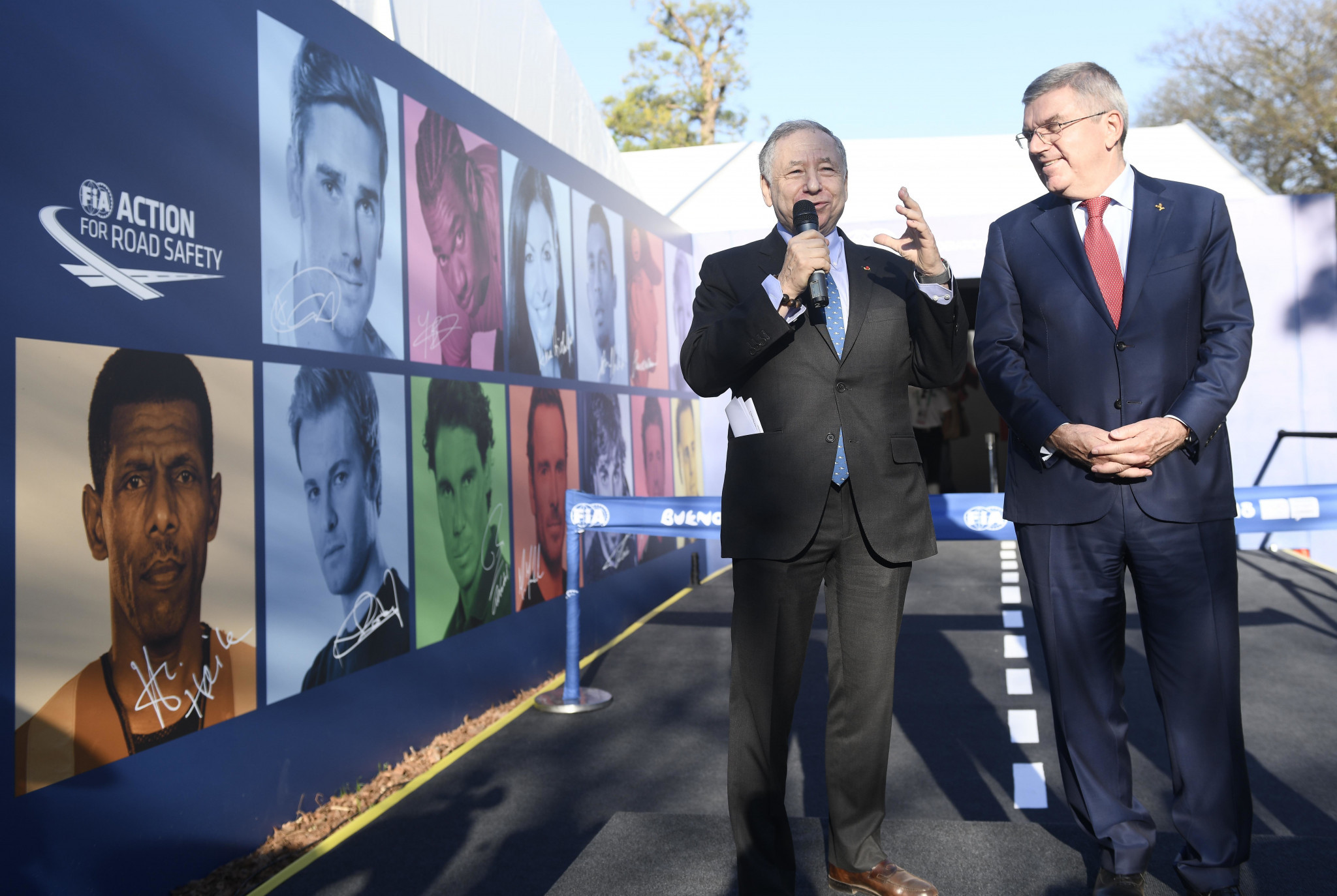 The FIA campaign launched at Buenos Aires 2018, in partnership with outdoor advertising company JCDecaux, is designed to instill in youngsters the importance of road safety ©FIA