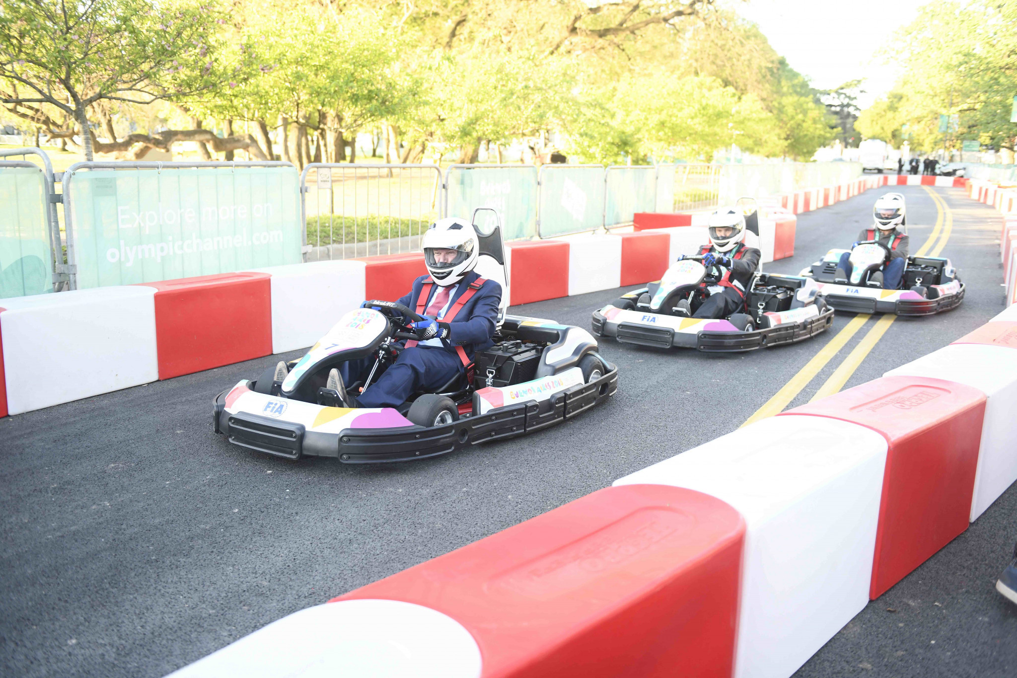 E-karting is being demonstrated at the Summer Youth Olympic Games ©FIA