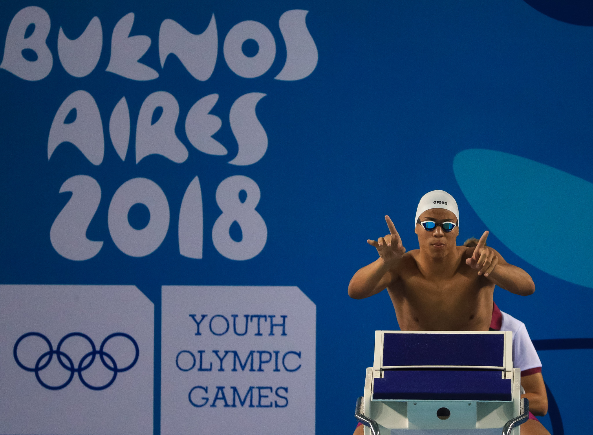 Three swimming finals took place on the opening day of competition ©Getty Images