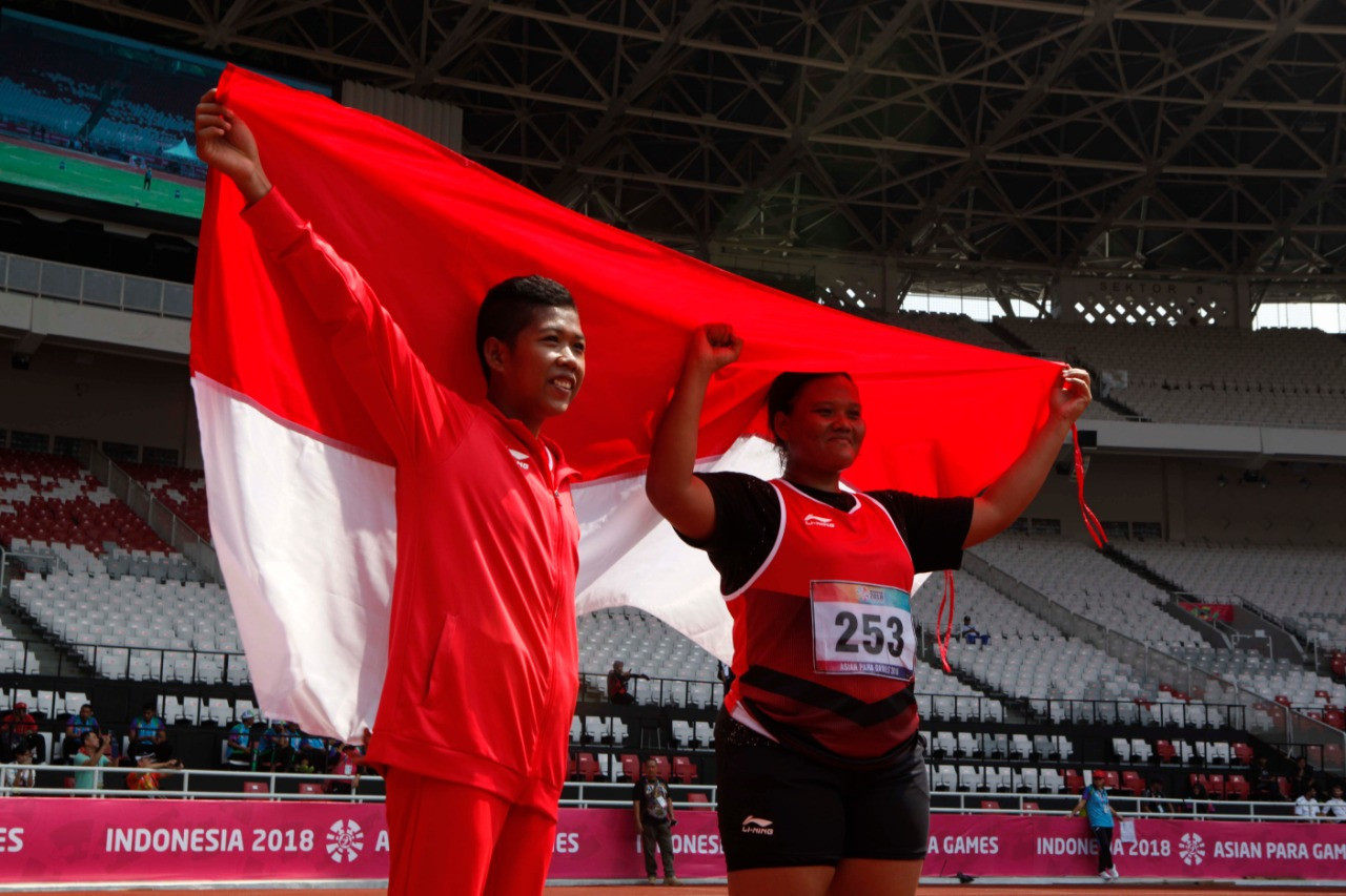 Hosts Indonesia won the Asian Para Games gold medal in the F20 women's shot put as Suparniyati threw the furthest in front of her home fans at the at the Gelora Bung Karno Stadium ©Asian Para Games