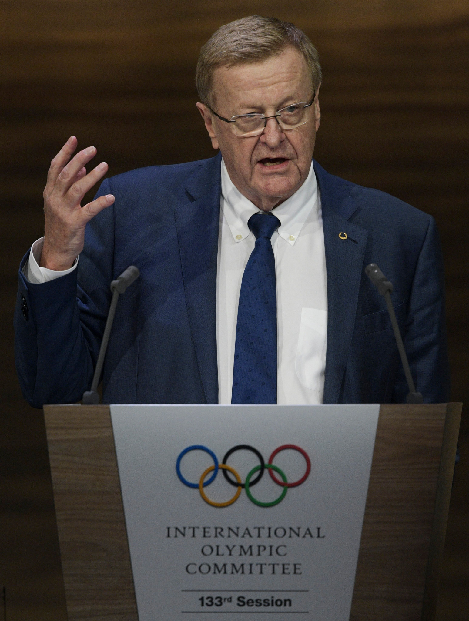 A report on Tokyo 2020 was presented at the IOC Session by John Coates ©Getty Images