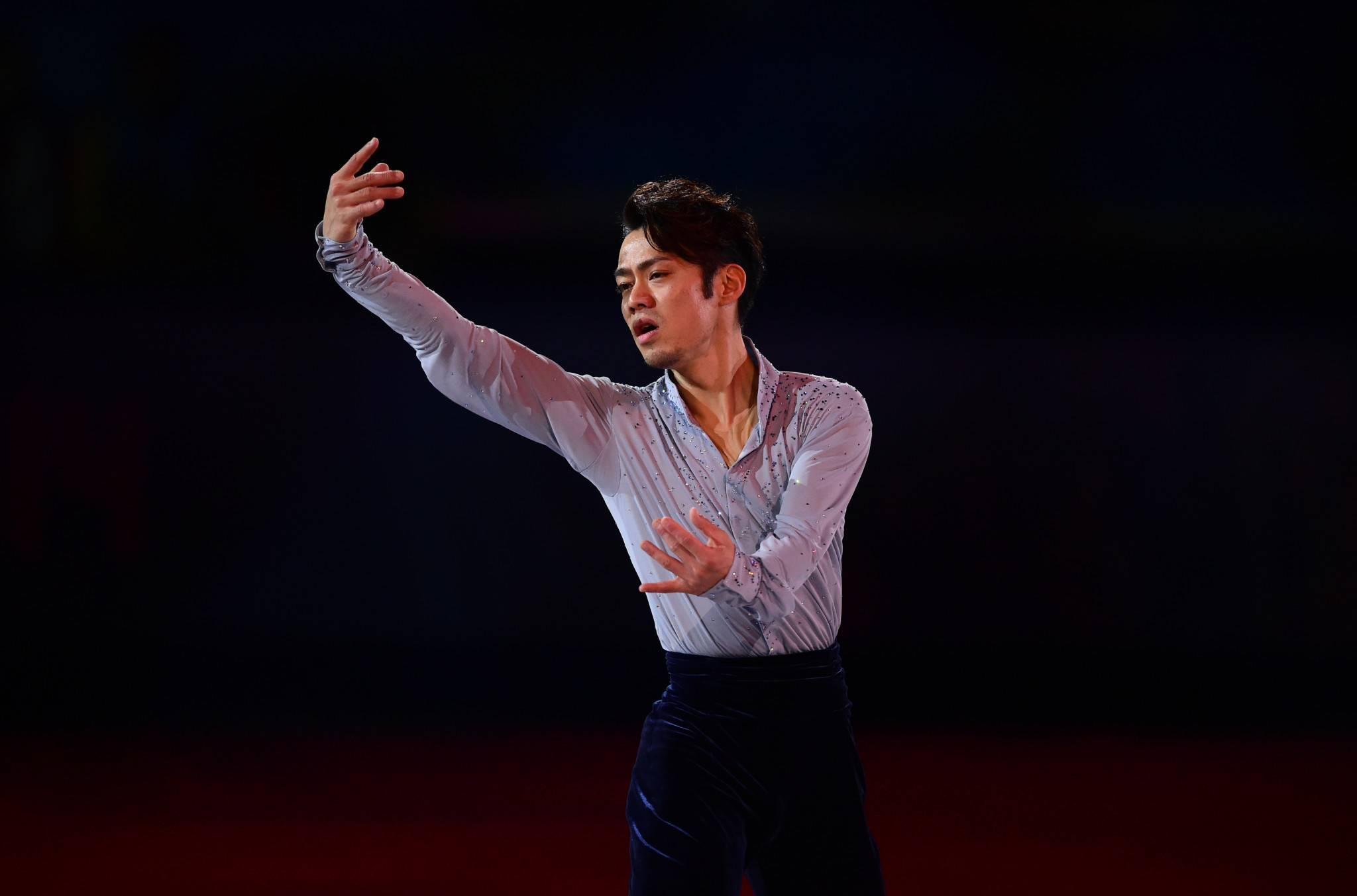 Japanese figure skater Daisuke Takahashi performing at the Sochi 2014 Winter Olympics before he retired ©Getty Images