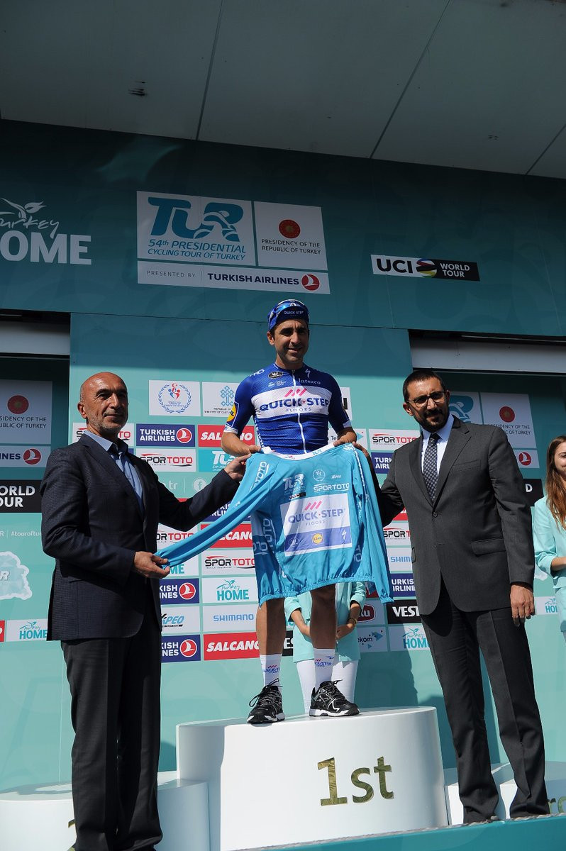 For winning the first stage, Maximiliano Richeze will be the first rider to wear the turquoise jersey ©Tour of Turkey/Twitter