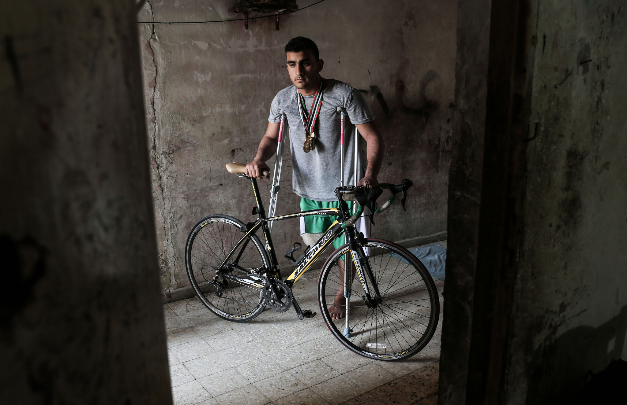 Palestinian cyclist shot in Gaza misses chance to compete at Asian Para Games