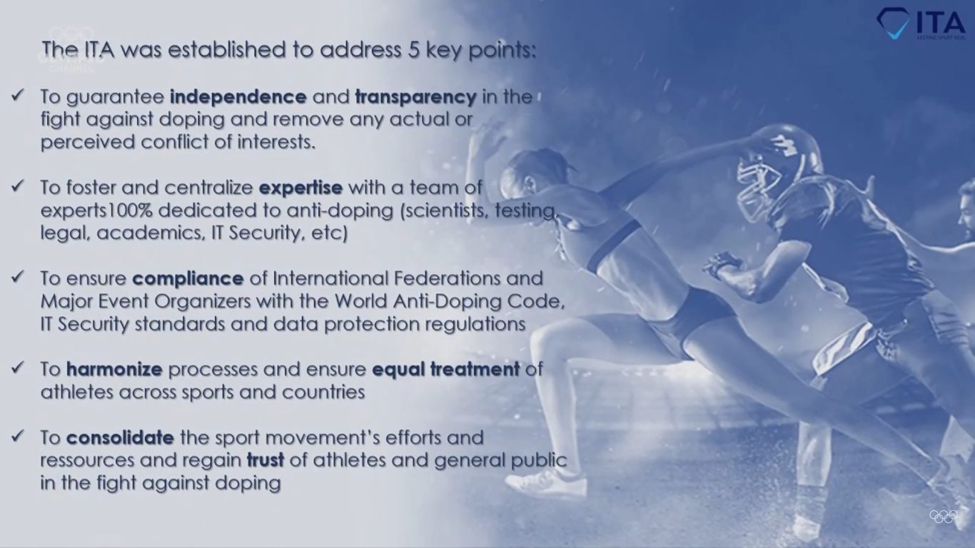 The ITA outlined five key aims to the IOC Session ©ITA