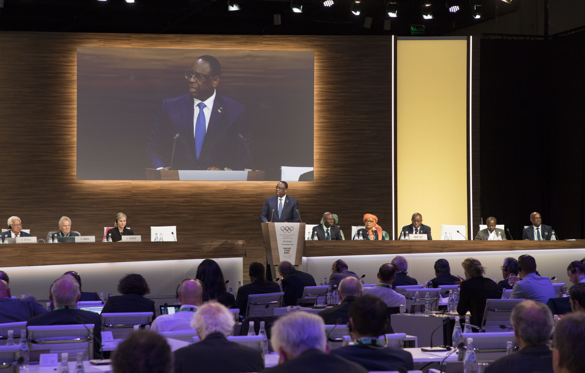 Senegal's President Macky Sall has promised Sebastian Coe he will discuss helping the IAAF end an impasse over gaining access to Papa Massata Diack ©IOC