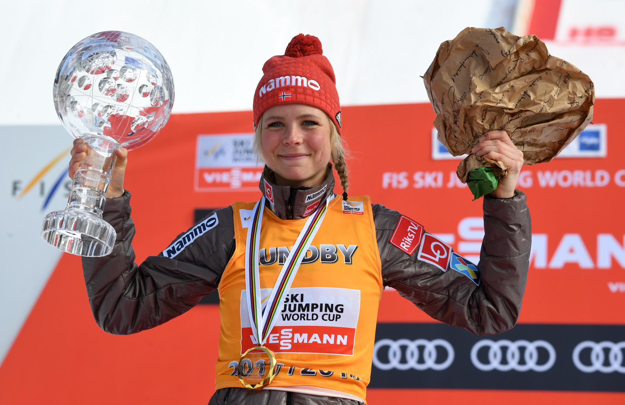 Maren Lundby welcomed the new additions to the calendar ©Getty Images