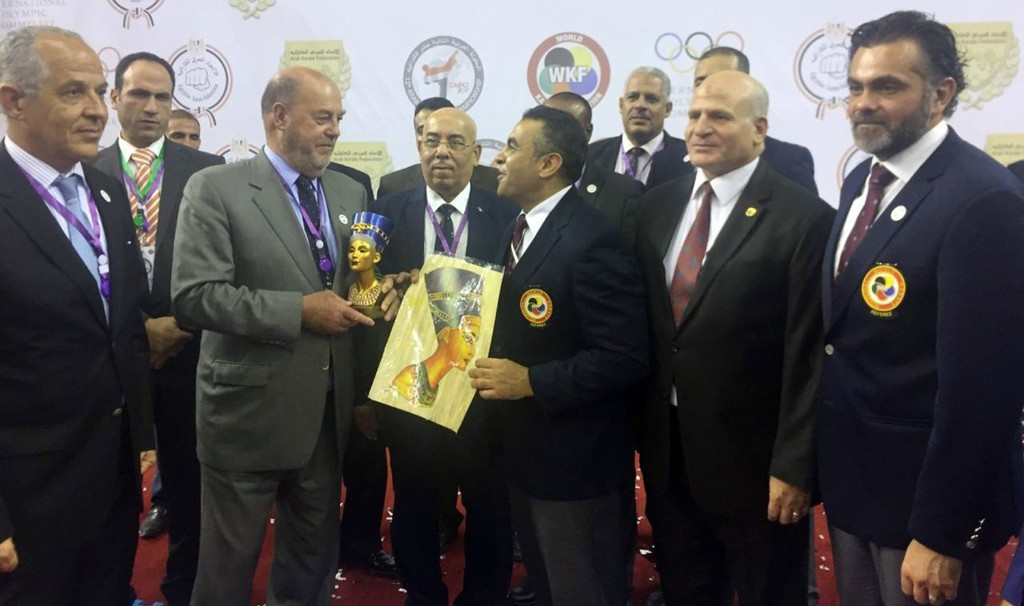 Antonio Espinós received a recognition while in Cairo ©WKF